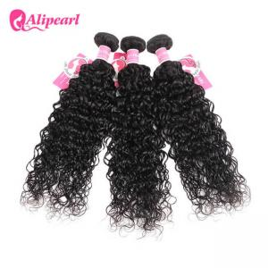 China Natural Wave Peruvian Human Hair Bundles Grade 8A Curly Hair Extensions on sale