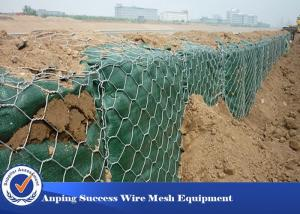 China PVC Coated Hot Dipped Gabion Wire Mesh For Flood Bank Customized Length on sale