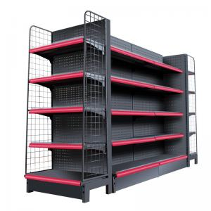 China Double Side Supermarket Display Shelving Cold Rolled Steel Material White Color on sale