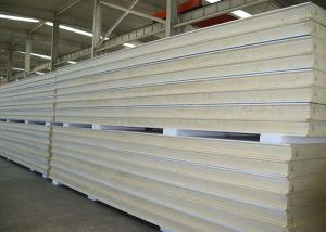 China Heat Insulation Pu Polyurethane Sandwich Panels Anti Noise For Prefab Building on sale