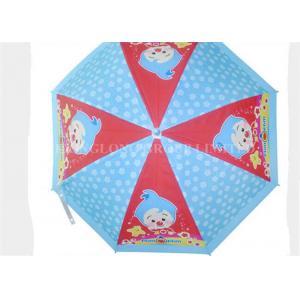 China White Trim Compact Clear Bubble Umbrella , Kids Clear Dome Umbrella Auto Open on sale
