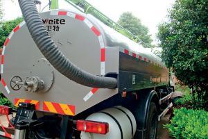 China Sewage Suction Truck Weight: 7,360kg, 8,275kg, 12,495kg Tank Volume: 4m3, 5m3,8m3 on sale