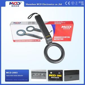 China MCD-2003 Security Wand Metal Detectors , Portable Metal Wand Detector 9 V Battery on sale