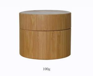 Quality 100ml bamboo Jar with PP liner with liner lid,bamboo packaging for sale