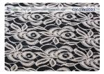 Elastic Cotton Nylon Lace Fabric For Underdress 30% Nylon + 70% Cotton CY-LW0023