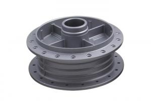 China AX100 Motorcycle Brake Shoe , Motorcycle Rear Wheel Hub Replacement Grey Color on sale