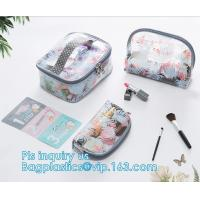 China wholesale makeup bag travel pvc zipper bag, Organic Plastic PVC Bags Travel Cosmetic Bag seal Toiletry Zip Pouch, drawst on sale