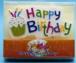 Colorful Hand Painted Cool Candles For Birthday Cakes No Drip Disposable