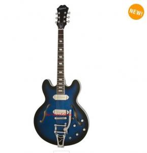China Epiphone Ltd. Ed. Gary Clark Jr. Blak & Blu Casino - Blak & Blue, Bigsby on sale