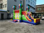 0.55mm PVC Tarpaulin Inflatable Jumping Balloon Castle With Slide For Kids