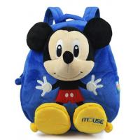 Blue Personalised Mickey Mouse Backpack For Toddler ,  Eco Friendly