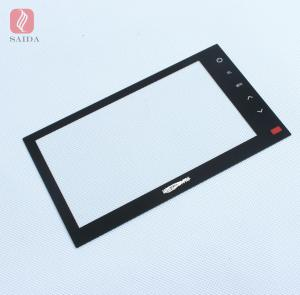 China custom 3mm heat strengthened tempered glass for 7inch car LCD monitor touch panel glass lens on sale