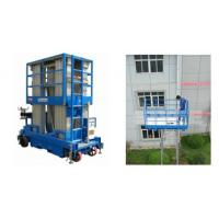 China Push Around Man Lift With 12m Working Height , Four Mast Hydraulic Elevating Platform on sale