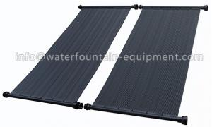China Black Outdoor Plastic Solar Swimming Pool Heaters UV Stable High Efficient on sale