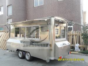 China Ice Cream Mobile Snack Cart Seychelles Hot Food L450cm X W210cm x H210cm on sale