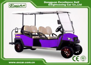 China 6 Seater Fuel Type Electric Passenger Car Purple With Italian Axle on sale