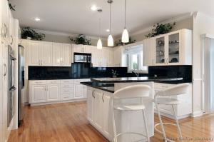 China High gloss white color modern design popular kitchen cabinet sets kitchen corner china cabinet plans on sale