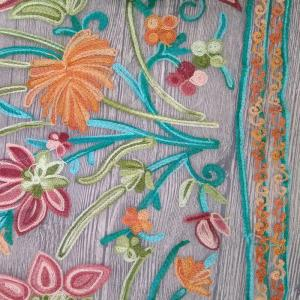 Quality Polyester Wide Jacquard Embroidered Mesh Lace Fabric By The Yard With Colored 3D for sale