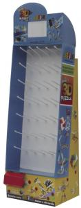 China Peg Hook Floor Cardboard Display Stands Corrugated Paper for Displaying Goods on sale