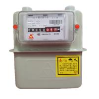 China Intelligent Diagram Commercial Gas Meter , G4 Steel Case Home Gas Meter With IC Card on sale