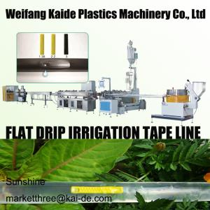 China 180m/mim Inline Flat Drip Irrigation Tape Extrusion Line KAIDE factory on sale