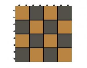 China WX09-B WPC board price wpc diy tiles garden decoration diy decking 300x300x22mm on sale
