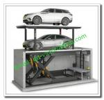 Car Stacker Pit/ Hydraulic Stacker Car Underground Lift/Car Parking System Price/ Four Post Car Lift with Pit
