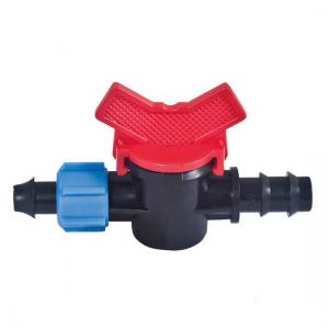 China Plastic Drip Tape Fittings Light Weight Drip Line Fittings Dn12 16 20 25mm on sale