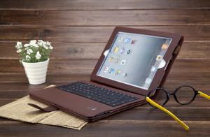 China Brown ABS keys Ipad3 Bluetooth Keyboard Case support Iphone 3G, 3GS on sale