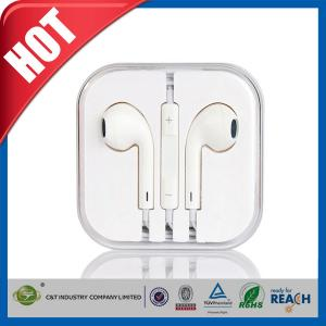 China Handsfree Stereo iPhone 6 Earphones Earbuds with Remote / Microphone on sale