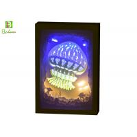 3d Cube Shadow Box Night Light Theme Ocean With LED Music System