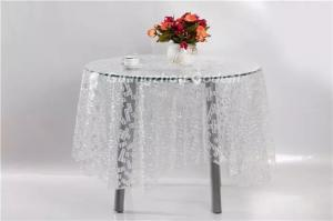 China 3D effect PEVA  table cloth waterproof  anti-dust table cover for home on sale on sale