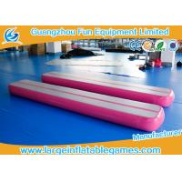 0.9mm PVC Material Inflatable Air Tight Beam Mat Customized Color For Gymnastics