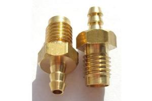 China Anodized Custom Precision Machined Parts Brass Material Gold Color on sale