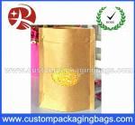 Popular Kraft Paper Plastic Ziplock Bags With Ground Transparent Window