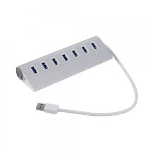 China Sliver 7 Ports USB 3.0 HUB 5Gbps High Speed USB Splitter For  Deaktop /Laptop pc usb charger on sale