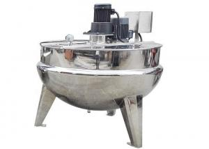 China Industrial Food Processing Machine Vertical Cooking Jacketed Kettle With Agitator / Cover on sale