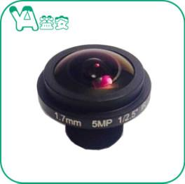 China HD 5MP 1.7mm 1/2.5'' F2.0 Dome Camera Lens 185° Wide Angel  For Glass Dome CCTV Camera on sale