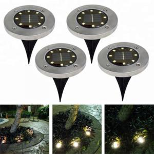 China Yellow Solar Powered LED Ground Lights / Solar Powered Walkway Lights on sale