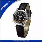 PSD-2950L la montre d'acier inoxydable de mode avec la bande de cuir véritable