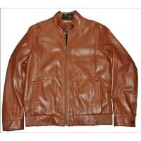 China Customized Casual and Stylish, Bomber Motorcycle  Thick Leather Jacket for Men on sale