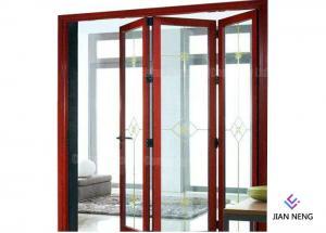 China Aluminum Folding Doors Bi Folding Door Folding Patio Doors For Villa Use on sale