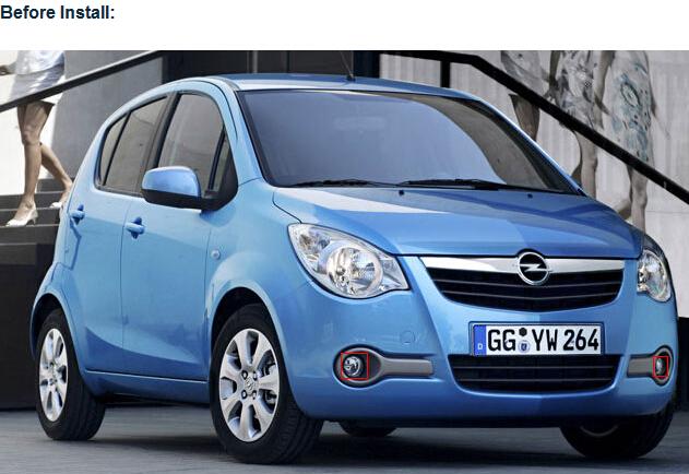 Консигнант управляя светов дневного времени СИД DRL света тумана фронта автомобиля Opel Agila для сбывания - Opel вело свет изго