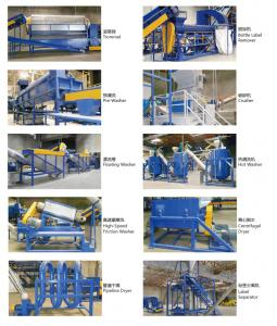 China 200-3000kg/h new-design pet bottle recycling line/pet bottle crushing washing and recyclin on sale