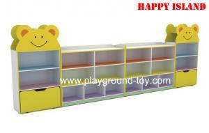 China Colorful Melamine Board Kindergarten Classroom Furniture Children Book Cabinet on sale