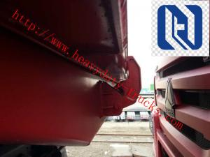 China 60 Ton 371hp EuorII Heavy Duty 8x4 Dump Truck With Front Lift , HW76 Cab Howo Tipper Truck on sale