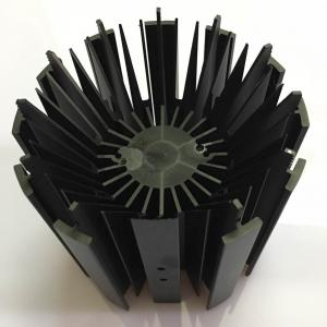 China CNC Machining LED Module Street Light Aluminum Heat Sink Profiles with Black Anodizing Color on sale