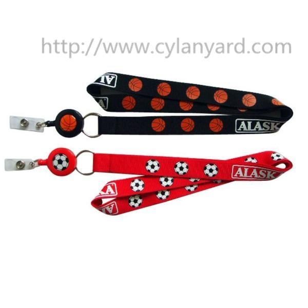 plastic badge reel neck ribbons