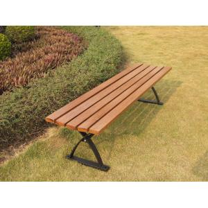 China China LFurniture Metal Frame Wooden Bench with Back Plans for Garden-14 on sale