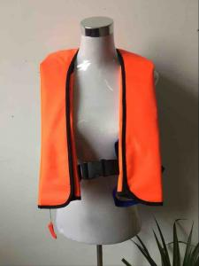 China 300D Oxford with PU coating Inflatable life jacket on sale